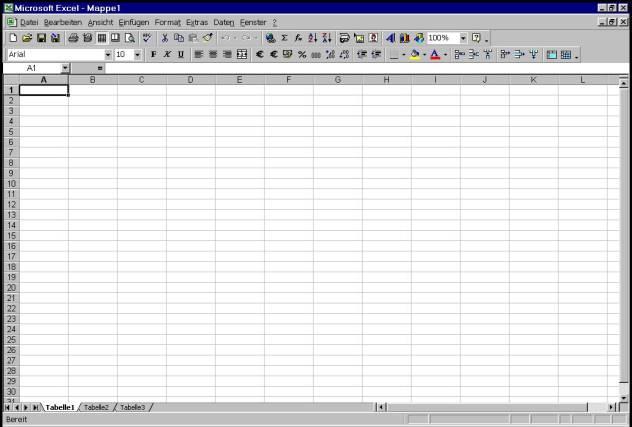 Excel Arbeitsblatt Ausschneiden : Teil